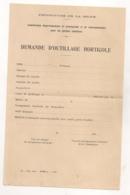 1944 FORMULAIRE DE DEMANDE D'OUTILLAGE HORTICOLE / COMMISSION PROPAGANDE ET RENSEIGNEMENTS JARDINS FAMILIAUX B2022 - Documents Historiques