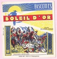 Buvard Biscottes SOLEIL D'OR Bonaparte à Rivoli 19 - Biscottes