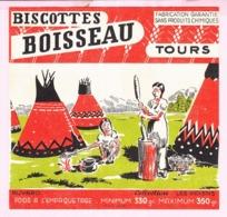 Buvard Biscottes Boisseau Tours Les Indiens 19 - Biscottes