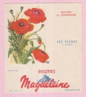 Buvard Biscottes MAGDELEINE Les Fleurs Le Coquelicot 19 - Biscottes