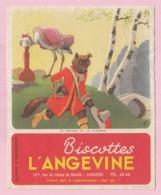 Buvard Biscottes L'ANGEVINE Le Renard Et La Cigogne La Fontaine 19 - Zwieback