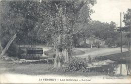"""LE VESINET . LAC INFERIEUR . LE GUE + OBLIT CONVOYEUR De """" PARIS A St-GERMAIN """" DU 3-8-1906 . 2 SCANES - Le Vésinet"""