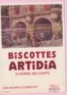 Buvard Biscottes ARTIDIA Saint Pierre 1 19 - Biscottes