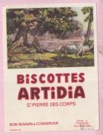 Buvard Biscottes ARTIDIA Saint Pierre 2 19 - Biscottes