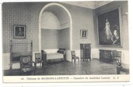 28. CHATEAU DE MAISON-LAFFITTE . CHAMBRE DU MARECHAL LANNES . CARTE NON ECRITE - Maisons-Laffitte