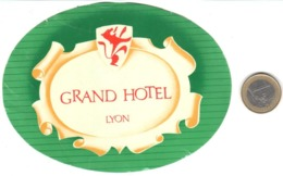 ETIQUETA DE HOTEL  - GRAND HOTEL  - LYON  -FRANCIA - Etiquetas De Hotel