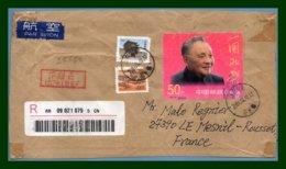 Chine Devant De Lettre Recommandée 2001 > France - 1949 - ... République Populaire