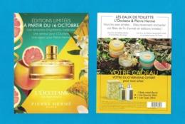 Cartes Parfumées Carte EDITIONS LIMITÉES  De L'OCCITANE EN PROVENCE PIERRE HERME RECTO VERSO - Perfume Cards