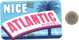 ETIQUETA DE HOTEL  - ATLANTIC HOTEL  -NICE - Etiquetas De Hotel