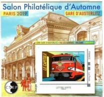 CNEP N°  81,de 2019 - Bloc Autoadhésif - Salon D'automne, Gare D'Austerlitz - CNEP