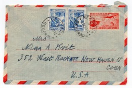 1953 YUGOSLAVIA, SERBIA, BELGRADE TO NEW HAVEN, USA, AIR MAIL - 1945-1992 Socialist Federal Republic Of Yugoslavia