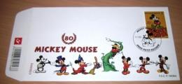 FDC België 2008/ Mickey Mouse Wordt 80 Jaar -  3783(o) - FDC