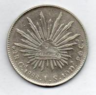 MEXICO, 8 Reales, 1888 - Ga, Silver, KM #377.6 - Mexico