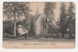 77 Château De Lagrange Vers Savigny Le Temple L'Eglise Nombreux Personnages Femme Avec Parapluie En 1925 - Savigny Le Temple