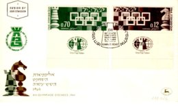 118cFDC Special First Day Postmark2-25.11.1964Israel, Tel Aviv16th Chess Olympid8,00First Day Cover - Machine - Scacchi