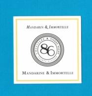 Cartes Parfumées Carte   L'OCCITANE EN PROVENCE PIERRE HERME MANDARINE & IMMORTELLE - Perfume Cards