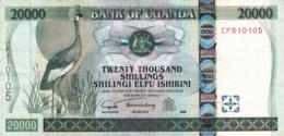 """UGANDA 20000 Shillings 2005 EXF P-46b """"free Shipping Via Registered Air Mail"""" - Oeganda"""
