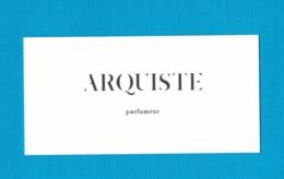 Cartes Parfumées Carte   ARQUISTE PARFUMEUR - Perfume Cards