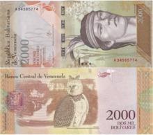 Venezuela - 2000 Bolivares 2016 UNC Lemberg-Zp - Venezuela