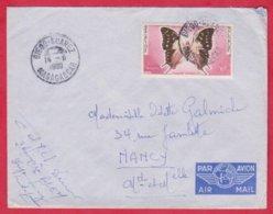 Republique Malgache Cachet ; Obitération Diégo Suarez.Sur Lettre  PA N°80 Seul Pour Nancy - Madagascar (1889-1960)