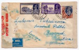 1940 INDIA, LUCKNOW, UTTAR PRADESH TO BELGRADE, YUGOSLAVIA, SERBIA, AIR MAIL, CENSORED, TROUGH ATHENS - Other
