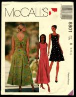 Vintage McCall`s Schnittmuster 8801  -  Misses Sommerkleid In 2 Längen  -  Size B   Größe 8-12 - Designermode