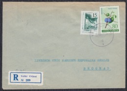 Yugoslavia 1961 Registered Letter Sent From Veliki Crljani To Beograd - 1945-1992 Sozialistische Föderative Republik Jugoslawien