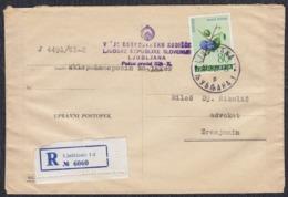 Yugoslavia 1961 Registered Letter Sent From Ljubljana To Zrenjanin - 1945-1992 Socialist Federal Republic Of Yugoslavia