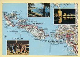 17. ILE DE RE – Multivues – Carte Géographique (voir Scan Recto/verso) - Ile De Ré