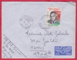 Republique Malgache Cachet  Année 1960 ; Obitération Diégo Suarez.Sur Lettre  N°356 Seul Pour Nancy - Madagascar (1889-1960)