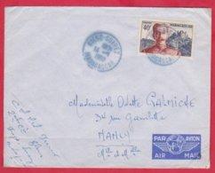 Republique Madagascar Cachet  Année 1960 ; Obitération Diégo Suarez.Sur Lettre  N°326 Seul Pour Nancy - Madagascar (1889-1960)