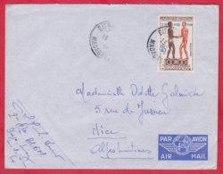 Republique Malgache Cachet  Année Environ 1960 ; Obitération Diégo Suarez.Sur Lettre  N°354 Seul Pour Nice - Madagascar (1889-1960)