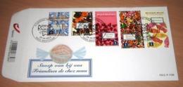 FDC België 2011 Snoep Van Bij Ons  4185/89(o) Friandises De Chez Nous (van Blok 195°) - 2011-...