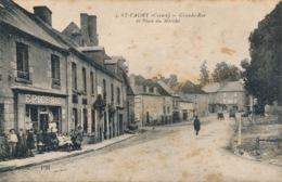 I155 - 23 - SAINT-VAURY - Creuse - Grande Rue Et Place Du Marché - Other Municipalities