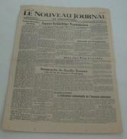 Le Nouveau Journal De Strasbourg Du 19 – 20 Août 1945.(liste De Libérés) - Riviste & Giornali