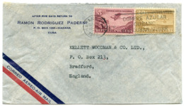CUBA : AIRMAIL - RAMON RODRIGUEZ PADERNI, HABANA, 1949 / ADDRESS - BRADFORD, ENGLAND - KELLETT WOODMAN - Airmail