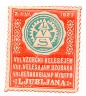 1928 SLOVENIA,  LJUBLJANA, VZORCNI VELESAJEM, PATTERN FAIR, POSTER STAMP - Slovenia