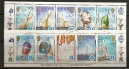 Solomon Islands 1986 America's Cup Sailing 2 Feuilles Blocks Obl - Islas Salomón (1978-...)