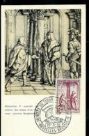 Journée Du Timbre 1957  N° 1011 Obl. Bxl 19/05/57 - Maximum Cards