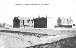 Zeebrugge - L'Ecole Communale Et La Chapelle (Edit. Aug. De Neve Grandsard 1909) - Zeebrugge