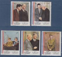 = Hommage Au Général De Gaulle 5 Timbres Neufs  Sharjah Et Dépendances - De Gaulle (General)