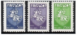 Belarus 1993 . Definitives (COA-Rider). 3v: 5.oo, 15.oo, 25.oo.  Michel # 25-27 - Belarus