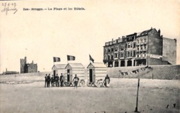 Zeebrugge - La Plage Et Les Hôtels (animation Cabines) - Zeebrugge