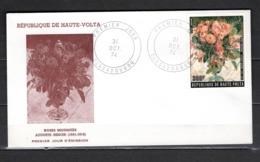 HAUTE VOLTA PA   N° 183  SUR ENVELOPPE PREMIER JOUR    COTE  ? €  PEINTRE FLEUR TABLEAUX - Alto Volta (1958-1984)