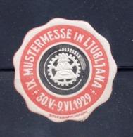 1929 SLOVENIA,  LJUBLJANA, MUSTERMESSE, PATTERN FAIR, POSTER STAMP IN BROWN AND BLACK - Slovenia