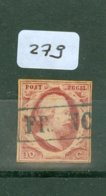 Nederland 1852 NVPH  Nr. 2  Gebruikt * STEMPEL FRANCO  (279) - 1852-1890 (Guillaume III)