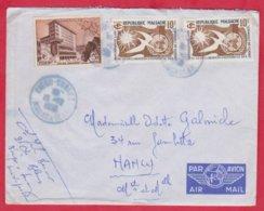 Republique Malgache Cachet ; Obitération 1958 Diégo Suarez.Sur Lettre N° 328 ; 335 Pour Nancy - Madagascar (1889-1960)