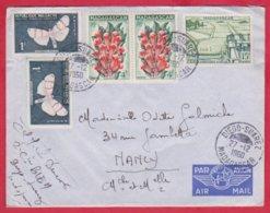 Republique Malgache Cachet ; Obitération 1960 Diégo Suarez.Sur Lettre N° 344 ; 333 ; 330 Pour Nancy - Madagascar (1889-1960)