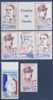 = Hommage Au Général De Gaulle 6 Timbres Saint Pierre Et Miquelon 521 531/532 532/531 Et 622, Neufs - De Gaulle (General)
