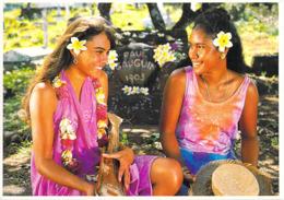 Polynésie Française Portrait De Jeunes Marquisiennes (vahiné Vahinés) (Photo Teva Sylvain  792 Tahiti)@*PRIX  FIXE - Polynésie Française